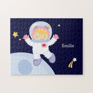Astronaut Girl Kid's Personalized Jigsaw Puzzle