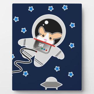Astronaut Hamster Plaque