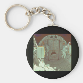 Astronaut in shuttle bay_Space Basic Round Button Keychain