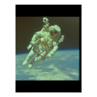 Astronaut in space. (astronaut_Space Poster