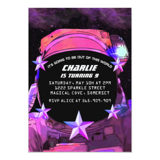 Astronaut in Space Invitations