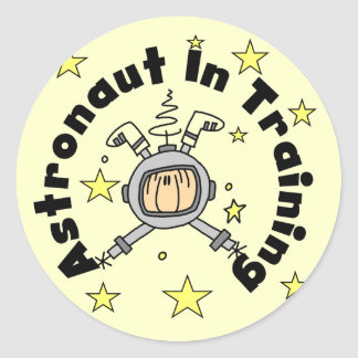 Astronaut in Training Tshirts and Gifts Round Sticker