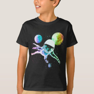 Astronaut Kitty Cat in Space T-Shirt