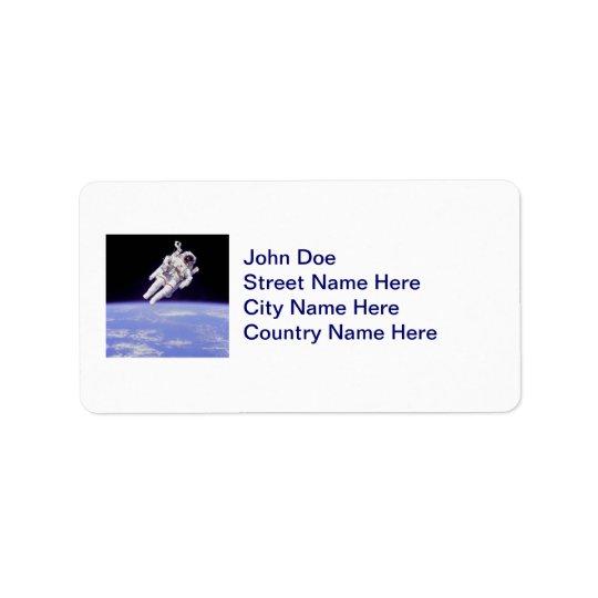 Astronaut Label