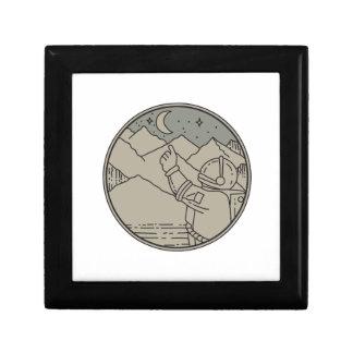 Astronaut Moon Stars Circle Mono Line Gift Box