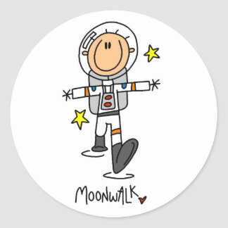 Astronaut Moonwalk Tshirts and Gifts Round Sticker