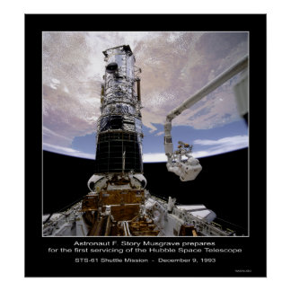Astronaut Musgrave Hubble Space Telescope Poster