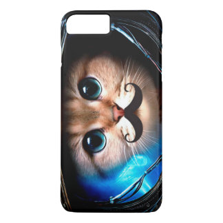 Astronaut Mustache Cat iPhone 8 Plus/7 Plus Case