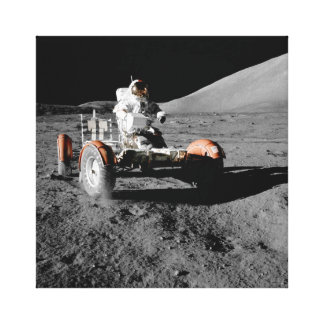 Astronaut on Moon Rover During Apollo 17 Mission Canvas Print