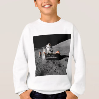 Astronaut on Moon Rover During Apollo 17 Mission Sweatshirt