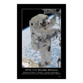 Astronaut Piers J. Sellers Spacewalk NASA STS-112 Poster