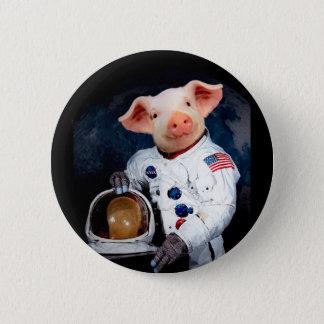 Astronaut pig - space astronaut 2 inch round button