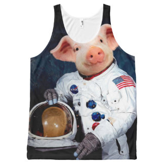 Astronaut pig - space astronaut All-Over-Print tank top