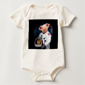 Astronaut pig - space astronaut baby bodysuit