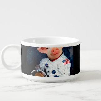 Astronaut pig - space astronaut bowl