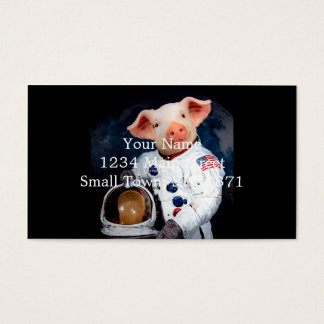 Astronaut pig - space astronaut business card