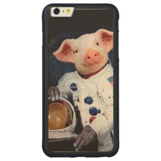 Astronaut pig - space astronaut carved maple iPhone 6 plus bumper case
