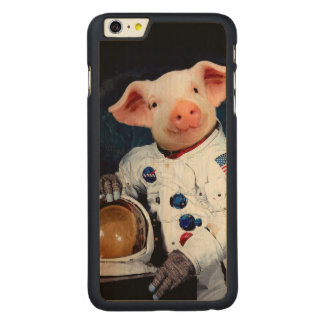 Astronaut pig - space astronaut carved maple iPhone 6 plus case