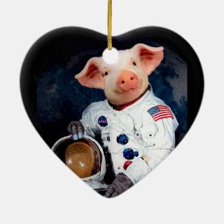 Astronaut pig - space astronaut ceramic ornament