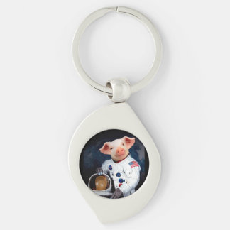 Astronaut pig - space astronaut keychain