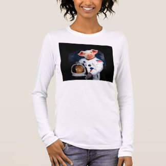 Astronaut pig - space astronaut long sleeve T-Shirt