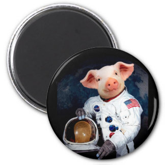 Astronaut pig - space astronaut magnet