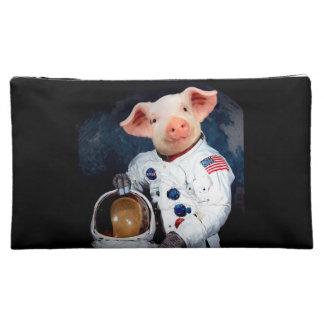 Astronaut pig - space astronaut makeup bag