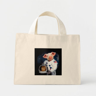 Astronaut pig - space astronaut mini tote bag