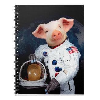 Astronaut pig - space astronaut notebook