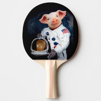 Astronaut pig - space astronaut ping pong paddle