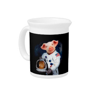 Astronaut pig - space astronaut pitcher