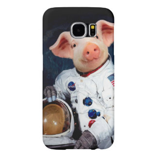 Astronaut pig - space astronaut samsung galaxy s6 case