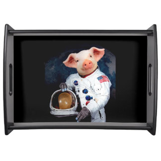 Astronaut pig - space astronaut serving tray