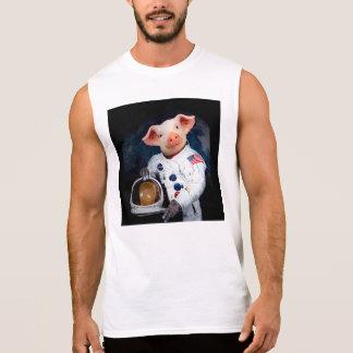 Astronaut pig - space astronaut sleeveless shirt