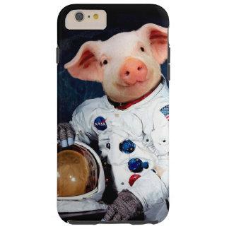 Astronaut pig - space astronaut tough iPhone 6 plus case