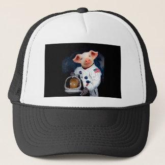 Astronaut pig - space astronaut trucker hat