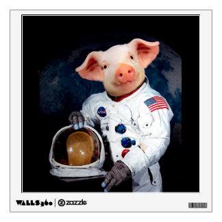Astronaut pig - space astronaut wall sticker