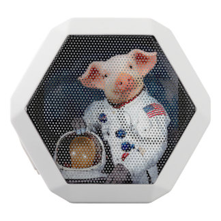 Astronaut pig - space astronaut white bluetooth speaker