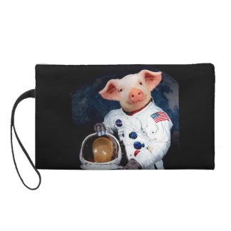 Astronaut pig - space astronaut wristlet