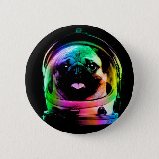 Astronaut pug - galaxy pug - pug space - pug art 2 inch round button