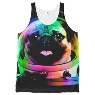 Astronaut pug - galaxy pug - pug space - pug art All-Over-Print tank top