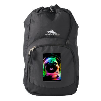 Astronaut pug - galaxy pug - pug space - pug art backpack