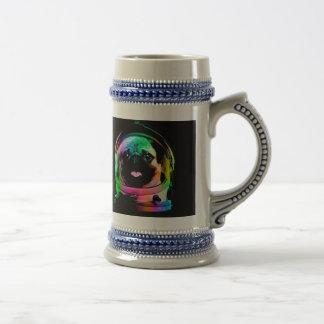 Astronaut pug - galaxy pug - pug space - pug art beer stein