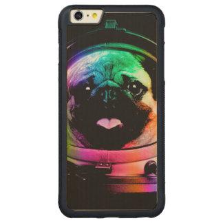 Astronaut pug - galaxy pug - pug space - pug art carved maple iPhone 6 plus bumper case