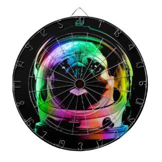 Astronaut pug - galaxy pug - pug space - pug art dartboard