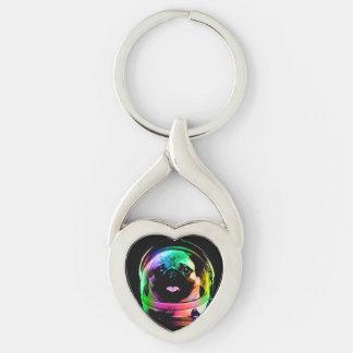 Astronaut pug - galaxy pug - pug space - pug art keychain