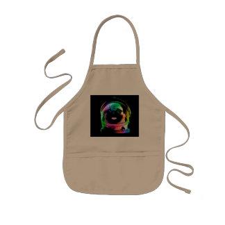 Astronaut pug - galaxy pug - pug space - pug art kids apron