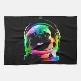 Astronaut pug - galaxy pug - pug space - pug art kitchen towel