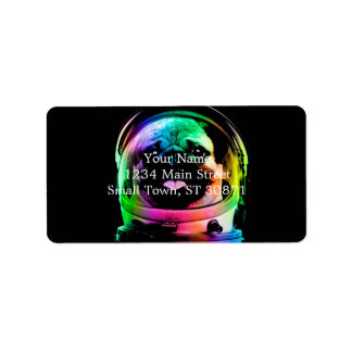 Astronaut pug - galaxy pug - pug space - pug art label
