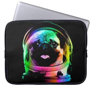 Astronaut pug - galaxy pug - pug space - pug art laptop sleeve